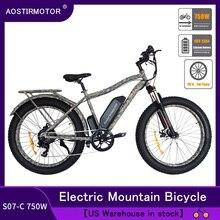 AOSTIRMOTOR Electric Mountain Bike Fat Tire ebike 750W 48v 13AH US Stock S07 C ebike