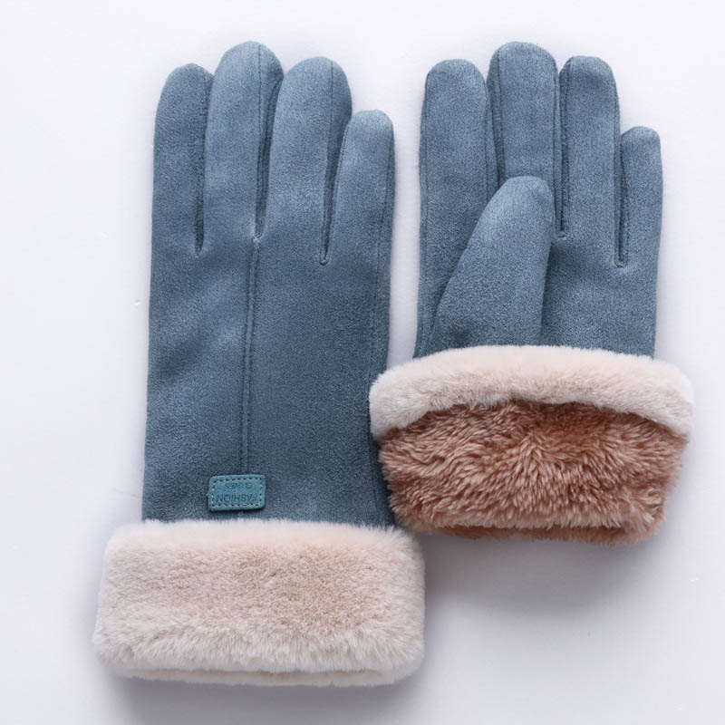 Fashion Winter Gloves Women Cute Cat Snowflake Mittens Double-Layer Cashmere Keep Warmer Outdoor Sport Female Glove Screen Luvas