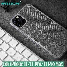 Para o iphone 11 pro max caso 5.8 6.1 6.5 nillkin espinha de peixe caso luz poliéster reflexivo à prova dwaterproof água capa traseira para iphone11