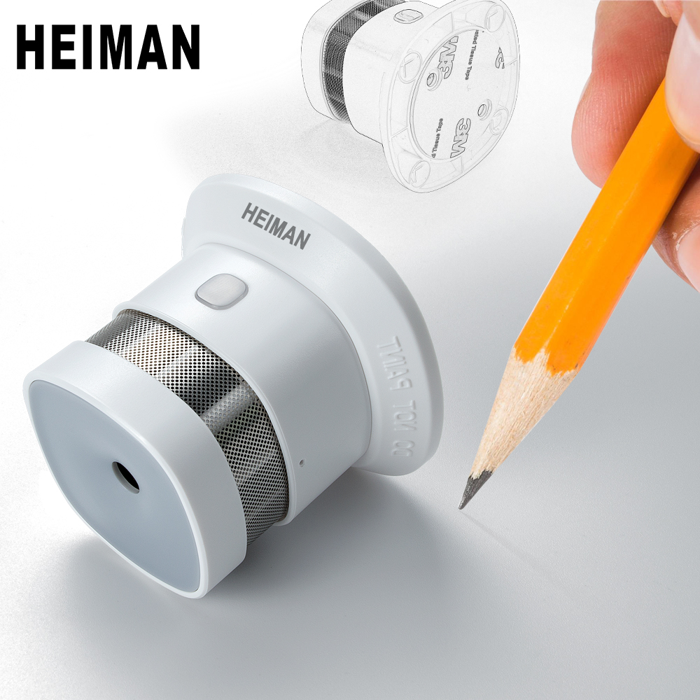 Автономный пожарный детектор дыма HEIMAN, домашняя высокочувствительная система защиты, беспроводной датчик, Мини Портативный