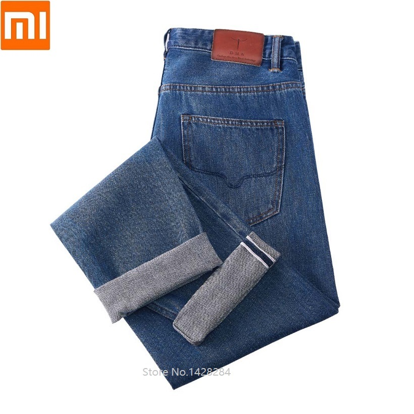 Xiaomi Men's Fashion Jeans Business Casual Stretch Slim Jeans Classic Trousers Comfortable Jeans Pants Male