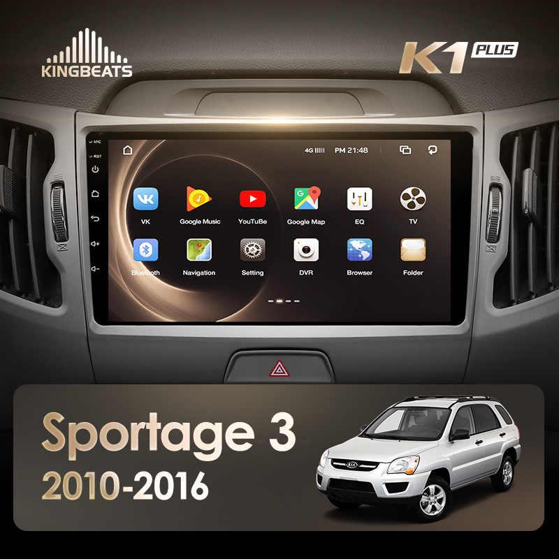 KingBeats Android 8,1 octa-core unidad principal 4G en el salpicadero Radio del coche reproductor de vídeo Multimedia navegación GPS para Kia Sportage 3 SL 2010-2016 no dvd 2 din doble Din Android coche estéreo 2din DDR4 2G RAM 32G ROM/4 + 64G