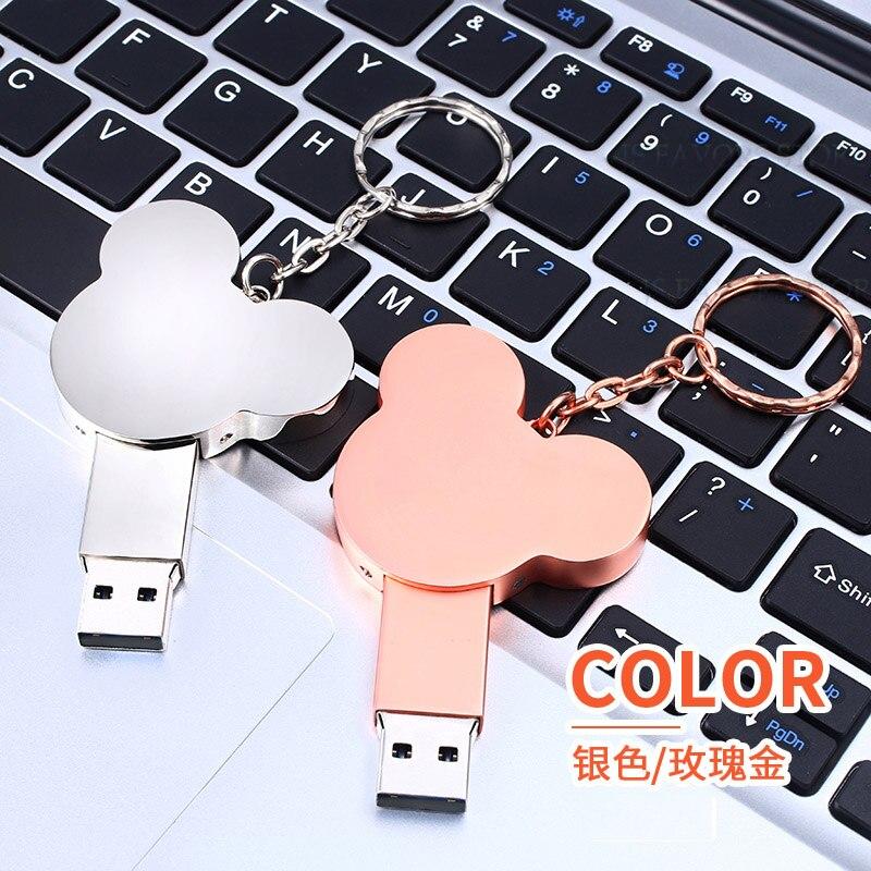 Livraison gratuite 2 pièces 119GB USB flash disque logo personnalisé saint valentin mariage mariée douche faveurs entreprise réunion cadeau d'anniversaire - 6