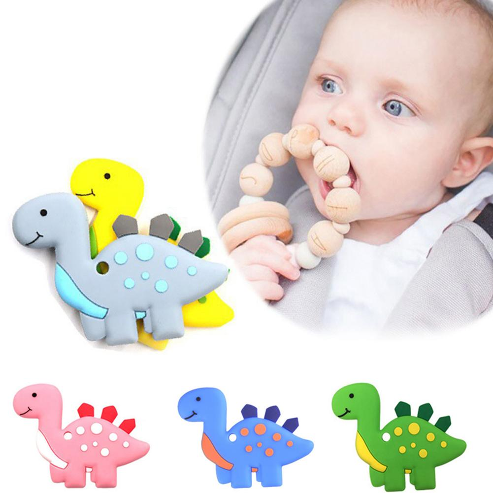 Lovely Animal Dinosaur Soft Baby Teether Silicone Safe Chew Newborn Baby Teething Toys Chewable Nursing Hanging Toys For Baby