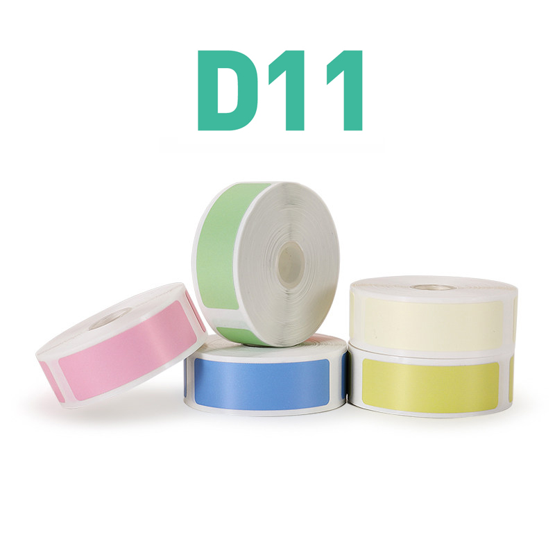 Niimbot D61 Mini Label printer paper Printing Label Waterproof Anti-Oil Price Label Pure Color Scratch-Resistant Label Stick