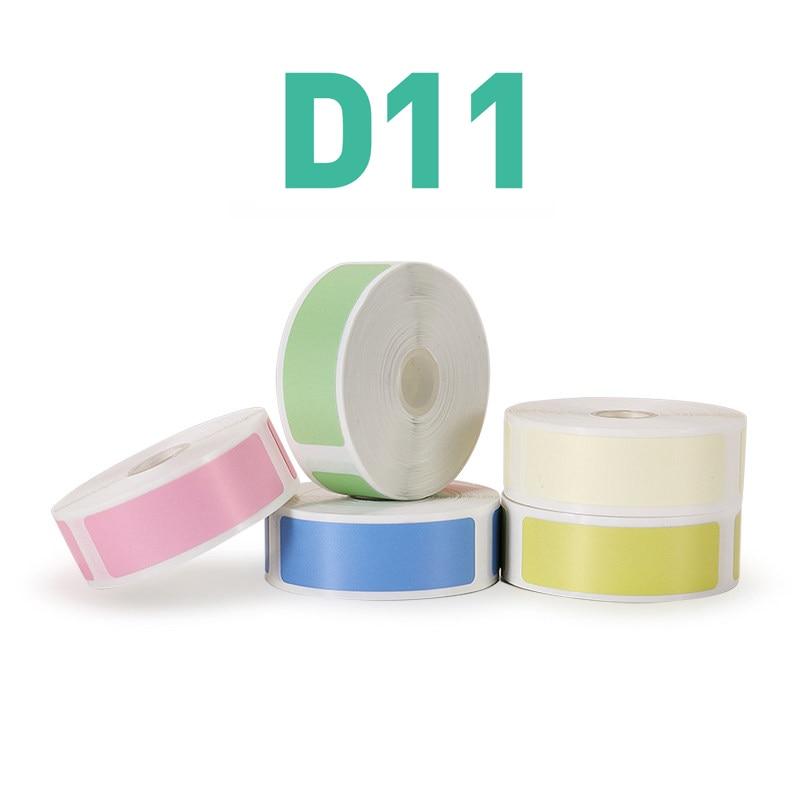 Niimbot D61 Mini Label Printer Paper Printing Label Waterproof Anti-Oil Price Label Pure Color Scratch-Resistant Label Stick