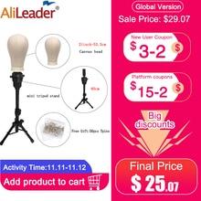 Cabeça de manequim alileader de 21 25 polegadas, tripé ajustável para fazer peruca, suporte de cabeça para extensão de cabelo exibição de tela