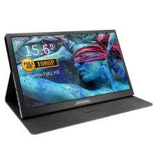 15.6 polegada monitor portátil hd magro 1920x1080 ips gaming display com 2 tipo-c USB-C porta hdmi para janela ps3/ps4/xbox 360 pc cnc