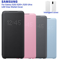 SAMSUNG Original LED View Wallet Phone Cover For Samsung Galaxy S20+ S20Plus S20 Ultra Authentic LED Flip Case with Card Pocket