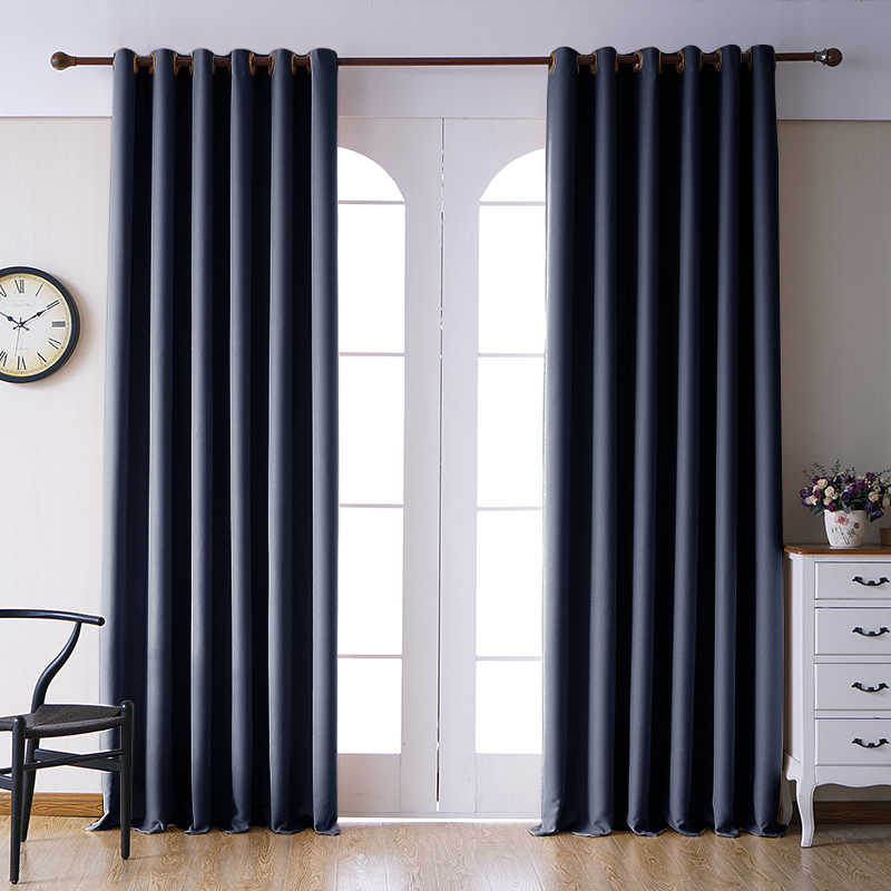 Blackout Curtains For Living Room Window D Blinds Thick Bedroom Kitchen Modern Finished Curtain High Shading