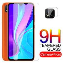 Proteção de vidro redmi 9c nfc câmera de vidro para xiaomi redmi 9c protetor de tela redme 9 c vidro temperado película do telefone segurança