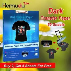 A4 T-shirt Dark Transfer Papier Irons Of Warmte-overdracht Machine Voor Katoen Stoffen 50Sheets/Pack Gratis Terugkeer