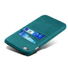 De lujo de ranuras de tarjeta titular caso para iPhone 5s 5 2016 casos de cuero Capa para iPhone se DE 2016 5 5 S 5G iPhone5s 4,0