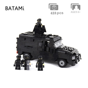 Image 4 - 도시 빌딩 블록과 호환되는 모델 구축 키트 Swat 방폭 자동차 세트 423 pcs 4 벽돌 minfigures 장난감