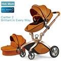 Горячая мама детская коляска 3 в 1 Высокая Land-scape коляска с люлькой в 2019 году Складная коляска для новорожденных
