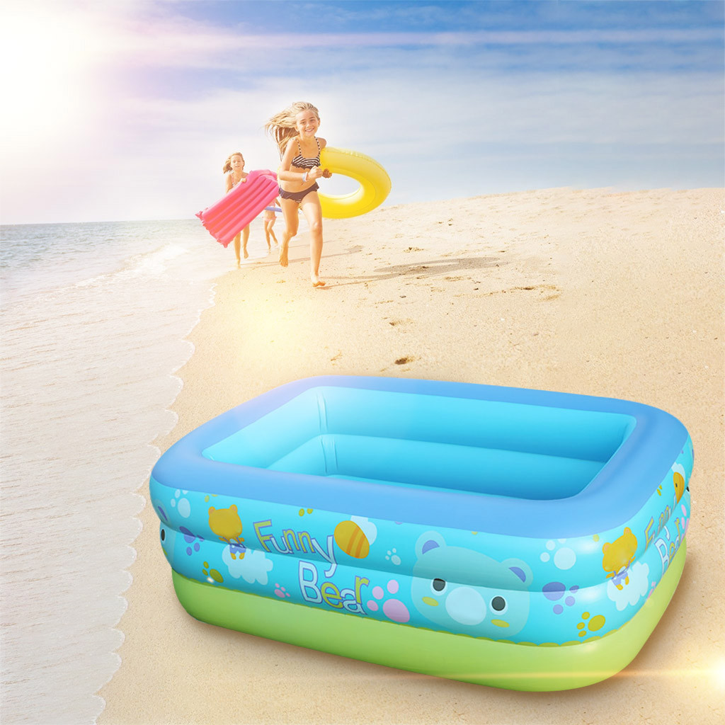 Inflatable Cartoon Swimming Pool Round Garden Party Outdoor Gift For Kids