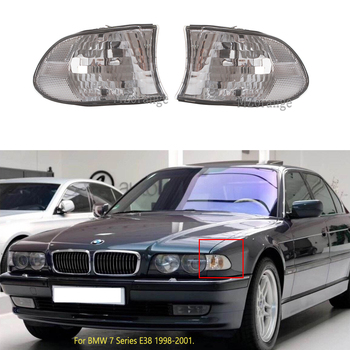 side Corner Lights for BMW 7 Series E38 1998-2001 Sedan Clear Lens Parking Turn Signal Indicator Headlights Fog lamp foglights image