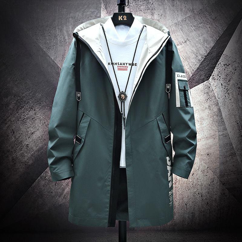 2019 The North модное длинное пальто, Осеннее ветрозащитное тонкое Мужское пальто на молнии, большие размеры, куртки в стиле хип хоп, одежда для лица