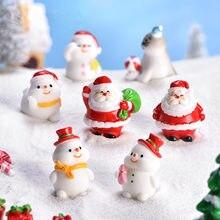 Sneeuwpop Micro Landschap Diy Kerst Decoratie Fairy Tuin Sneeuw Ornamenten Nieuwe Kerstman Leuke Zeeleeuw Kerst Ornamenten 2021