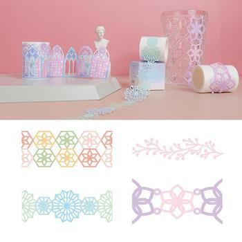 Cinta de Papel japonesa hueca, cinta hueca Retro, cinta Kraft Vintage, organizador decorativo, cinta adhesiva japonesa, papel de papelería P4U9