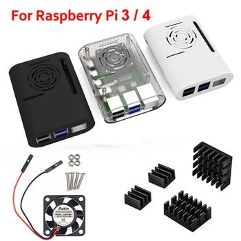 Aokin Raspberry Pi 4 Case, Raspberry Pi 3 B Plus Case Compatible with Raspberry pi 2b, pi 3b