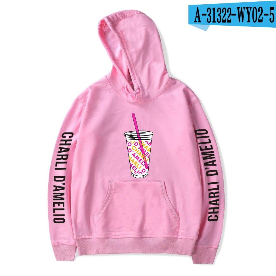 Charli Damelio Merch Print Ice Coffee Splatter Hoodie Women Men Sweatshirt Harajuku Hoodies Long Sleeve Tracksuit Pullover Womam 9