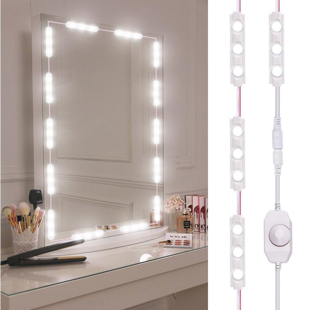 3M Mirror Light Bulb LED Makeup Mirror Dimmable Bulb Dressing Decoration Make Up Mirrors Powered Cosmetic Light Kit