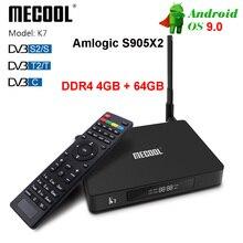 Mecool K7 Android 9.0 Tv Box Amlogic S905X2 DDR4 4GB 32GB BT