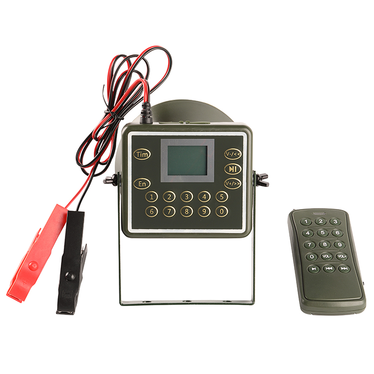 PDDHKK 60W Loud Speaker Bird Caller Decoy Support Password Protection Timer With 300-500m Remote Controller Hunting MP3 Player