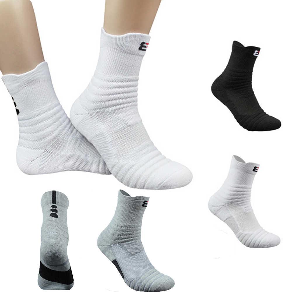 Mannen Ademende Basketbal Sokken Katoen Dikke Handdoek Bodem Sokken Outdoor Sport Running Sokken Midden Kousen mannen Sok