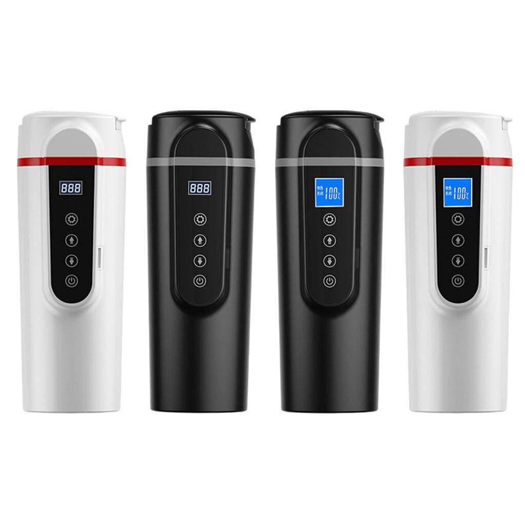 Smart Heating Car Cup Temp Control Travel Bottle Travel Coffee Mug Fit for Car Travel Home 12V/24V 420ml