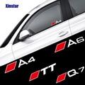 Наклейки на автомобильные окна, наклейки для Audi A1 A3 A4 A5 A6 A7 A8 Q1 Q3 Q5 Q7 Q8 TT B6 B7 B8 B9 S3 S4 S6 RS3 RS5 RS8, 2 шт.