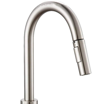 Press Kitchen Faucet with Pull-Down Sprayer, Kitchen Sink Faucet with Pull-Out Sprayer, Fingerprint Resistant, Single Hole