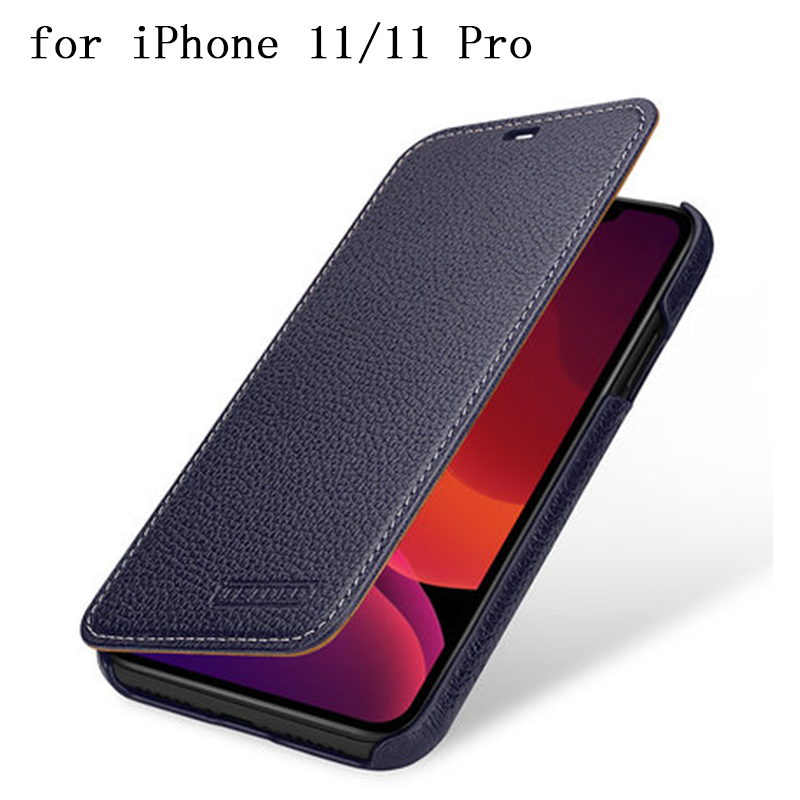 Luxury Genuine Leather Case Cover for iPhone 11 Pro Max Case Business Flip Protective Shell for iPhone 11Pro iPhone 11 coque bag