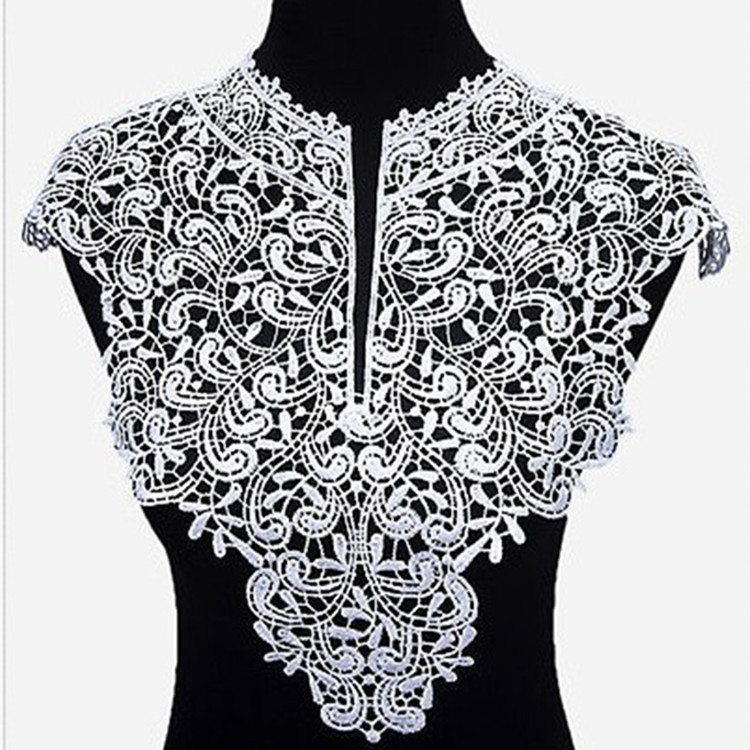 New DIY Lace Fake Collar Ladies Neckline Pure Color Fashion Embroidery Elegant High Quality Flowers Sewing Apparel Accessories