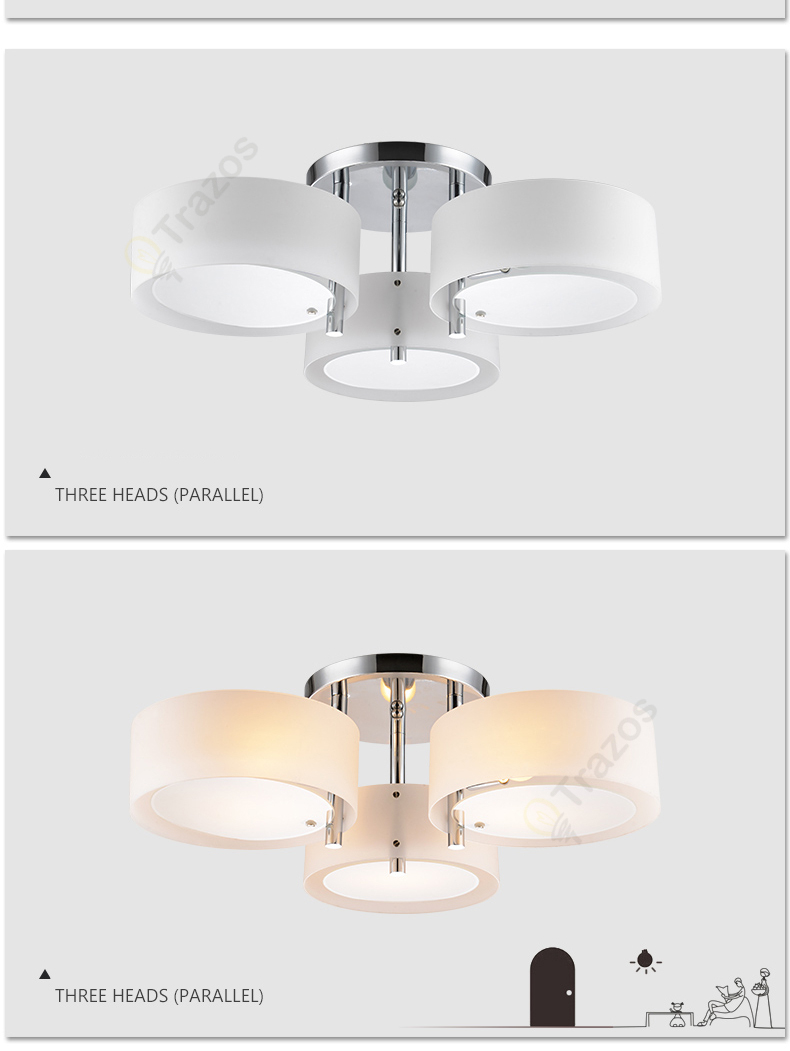 H1e4fdd1908744555af2cf7ab22acefabf NEW 2019 Modern Ceiling Lights modern fashionable design dining room lamp pendente de teto de cristal white shade acrylic lustre