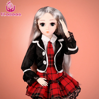 UCanaan BJD Doll 1/4 SD 18 Ball Jointed,45 CM Dolls with Clothes Outfit Shoes Wig Hair Makeup Best Gift for Girls