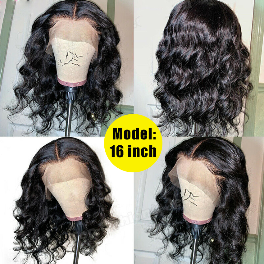 YYong 1x6 T Part Lace Wig 13*1 Hairline HD Transparent Lace Wigs  Loose Deep Wave 4x4 Lace Closure Wig 4