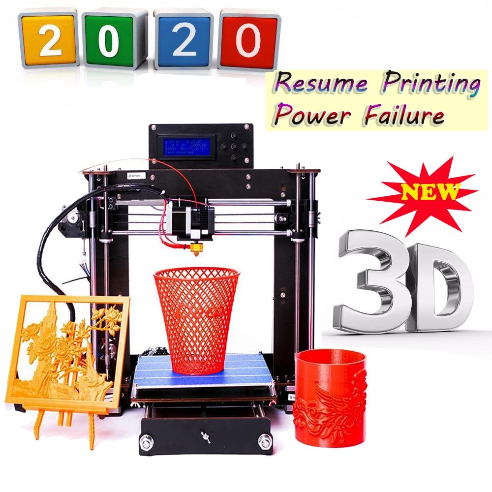 3D Printer Reprap Prusa i3 DIY MK8 LCD Power Failure Resume Printing Printer 3d Drucker Impressora Imprimante UK USA Stock