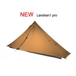 Image 3 - 3F UL GETRIEBE offiziellen Lanshan 1 pro Zelt Im Freien 1 Person Ultraleicht Camping Zelt 3 Saison Professionelle 20D Silnylon Kolbenstangenlosen