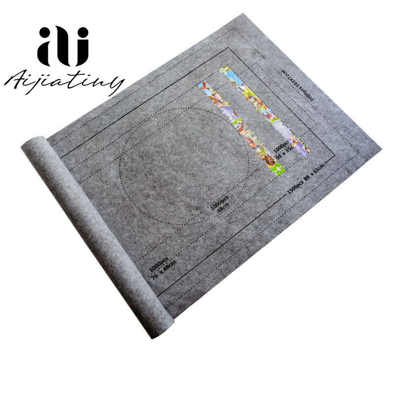 Puzzle Accessories Toy Portable Travel Storage Bag Puzzle Storage Roll Up Mat Jigsaw Roll Felt Mat