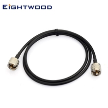 Eightwood UHF PL-259 Male to UHF PL-259 Male Pigtail RG58 Cable 90cm/3FT for HAM&CB Radio,Antenna