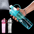 400/600Ml Drinking and Misting Sports Water Bottle Portable Anti-Leak Drinking Cup for Outdoor Sport Hydration and Cooling Down