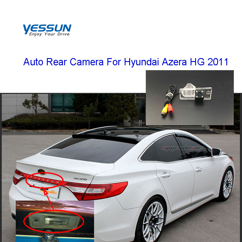 Yessuncar Accessories License Plate Camera  For Hyundai Azera HG 2011 Hyundai Azera Car Rear View Camera Parking Assistance