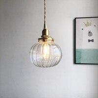 Japanese Hand Work Glass Brass A Chandelier Originality Ins Wind House Bedroom Restaurant Mirror Front Bedside Bar Counter Lamp