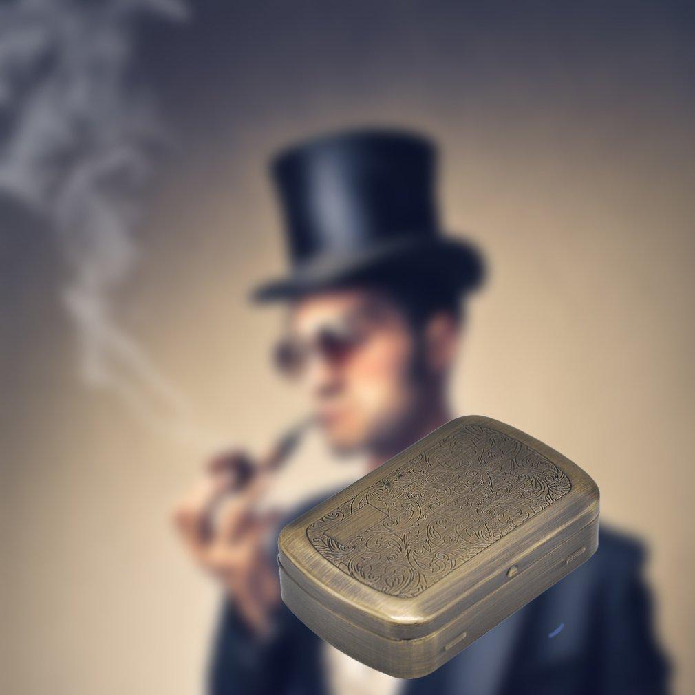 Купить портативный металлический чехол для сигарет humidor