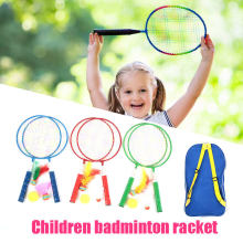 Metal Random Color Children Badminton Racket School Badminton Racket Child Toys Badminton Set for Baby Movement for Fitness(China)