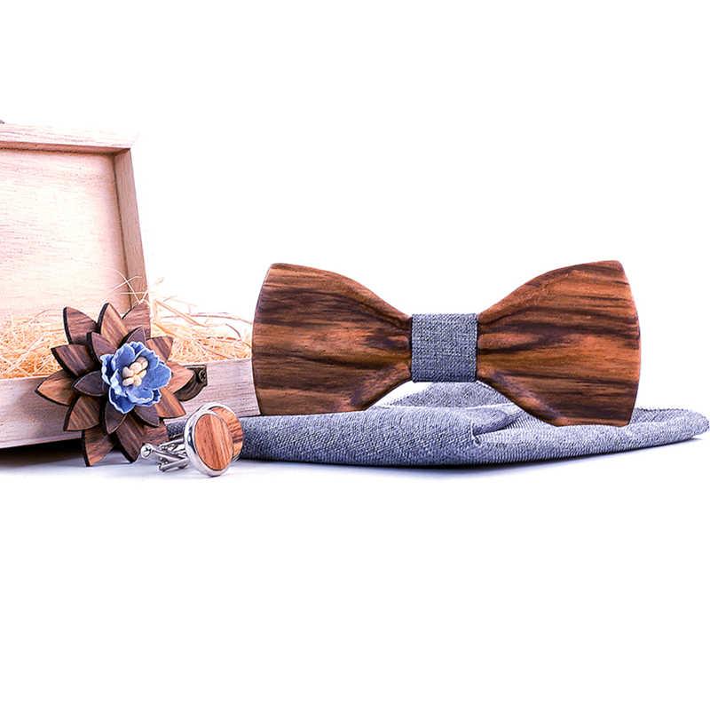 Zebra ahşap el yapımı 3D gri ahşap papyon s erkekler için kaliteli erkek kravat ahşap papyon 3D el yapımı kelebek ahşap papyon Gravata