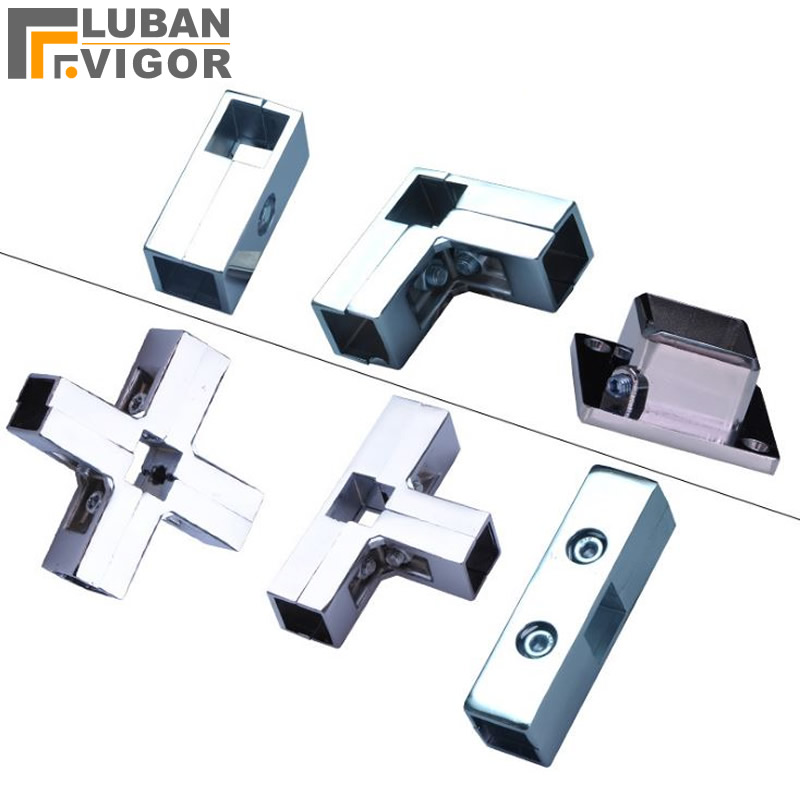 Square Tube / Pipe Connector For 25mmx25mm Stainless Steel Tube/pipe,square Tube Flange,Clothes Rack/Cabinet Frame Accessories