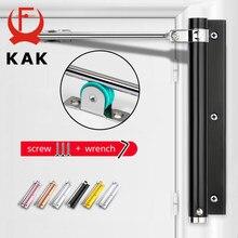Kak porta ajustável mais próxima liga de alumínio mola de porta automática mais perto macio perto à prova de fogo porta resistente ferragem
